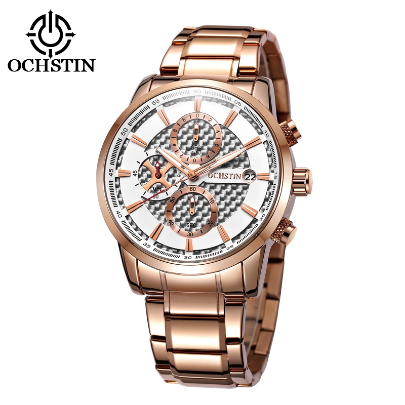 OCHSTIN Luxury Brand Men Military Sports Watches Men's Quartz Analog Clock Male Full Steel Gold Wrist Watch Relogio Masculino ybotti luxury brand men stainless steel gold watch men s quartz clock man sports fashion dress wrist watches relogio masculino