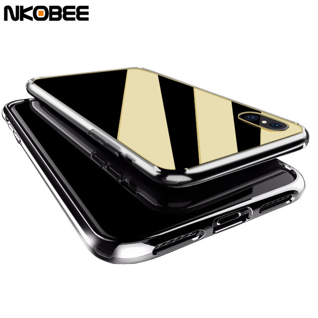 new arrival 6d97d 8648b US $3.74 |NKOBEE For iPhone 10 Case Mirror Cover For iPhone X Slim Case  Luxury Transparent Coque For iPhone X Ultra Thin Screen Protector-in Fitted  ...