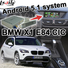 Android 5.1 GPS navigation box video interface for BMW E84 X1 CIC system cast screen youtube waze