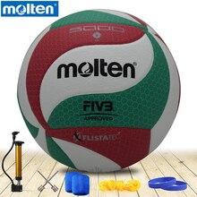 Расплавленный Волейбол V5M5000 бренд высокого качества из натуральной расплавленной искусственной кожи официальный размер 5 волейбол