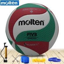 Voleibol fundido v5m5000 original nova marca de alta qualidade genuíno material do plutônio fundido tamanho oficial 5 voleibol