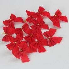 240pcs/lot Mini Velvet Bowknot Decorations 5*6cm Bow Christmas Tree Accessories Party Banquet Prom Supplies HX418