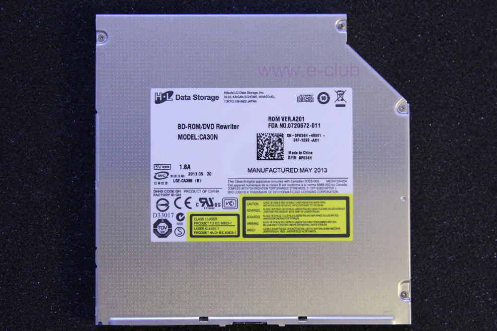 LIVRAISON GRATUITE HL LG CA30N 12.7mm SATA Slot-in 6X 3D Blu-ray Super Multi Blue-ray 8X DVD RW RAM Portable Commande