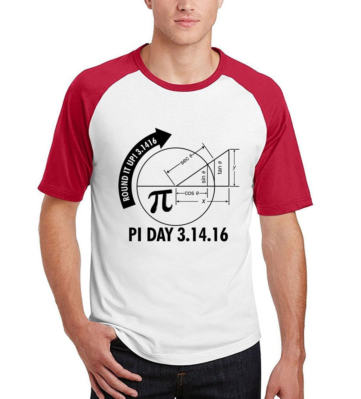 2017 men raglan cotton fitness tops Funny Pi Day 2017 3.1416 Round It Up Math Graph STEM T-Shirt summer short sleeve camisetas