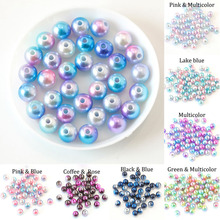 3 4 6 8 10 12 mm With Hole Multicolor ABS Imitation Simulated-Pearl Loose Spacer Pearls Beads For Jewelry Making DIY Accessories