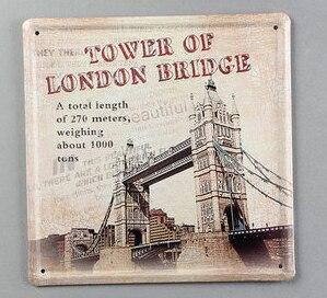 20X20CM London Bridge Vintage Home Decor Tin Sign Wall Decor Metal ...