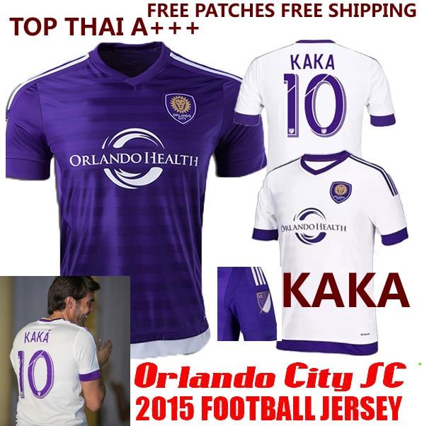 promo code 46c78 72465 2015 New Orlando City Jersey 15 16 Soccer Jerseys home away purple white  Orlando City soccer shirts KAKA Orlando City jerseys-in Soccer Jerseys from  ...