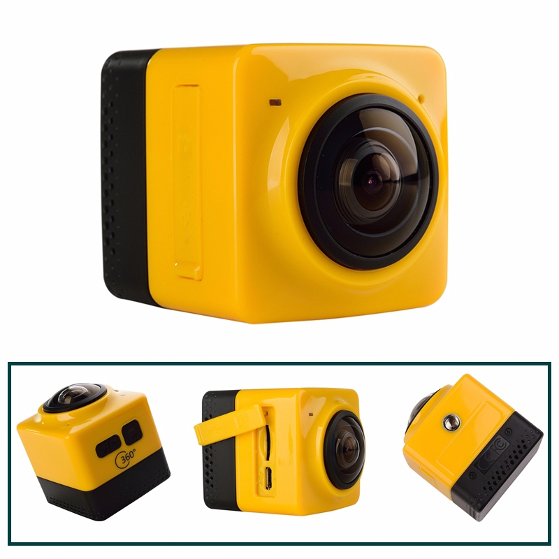 SOOCOO C-UBE360 Mini Sports Action Camera 360Panoramic VR Cameras Wide-Angle 720P 360x190 HD Video Camcorder Build-in WiFi Cam eken mini sports action cameras h9 h9r wide angle 4k 25fps hd video helmet cam 2 0 go underwater pro vr go pro cameras
