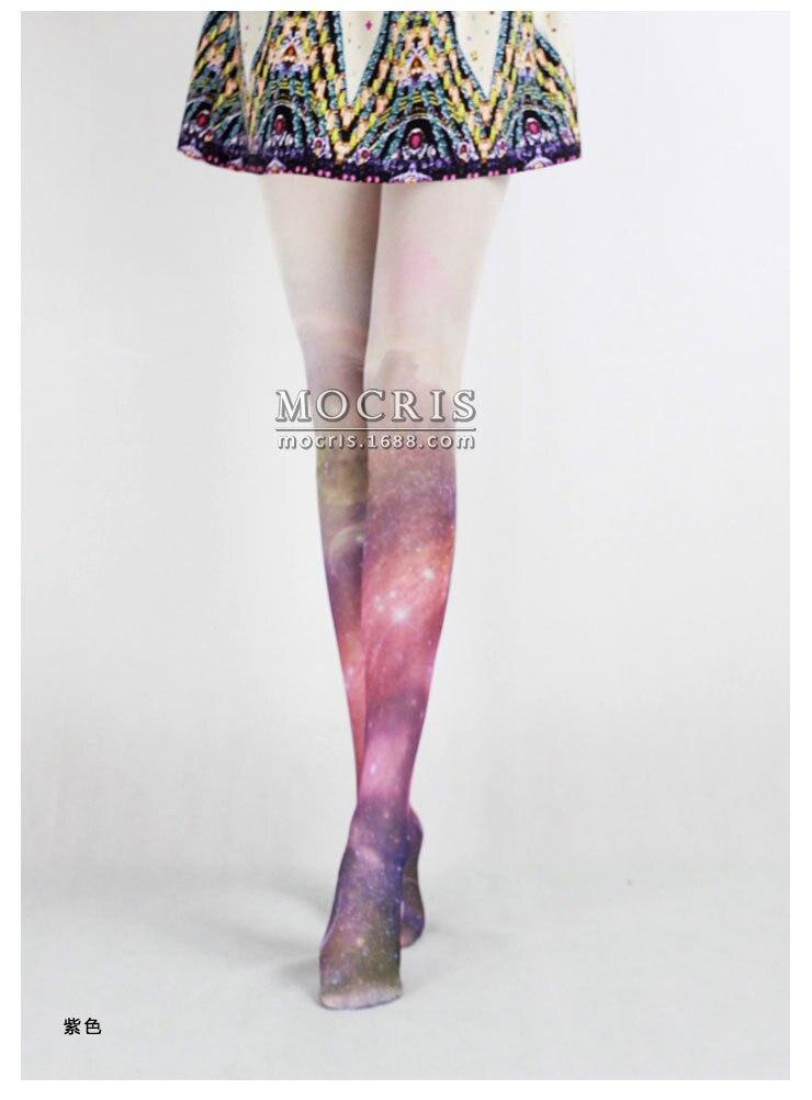 2016 Freeshipping one pair Spank zipper HARAJUKU stars lolita Printed tatto tights 6082