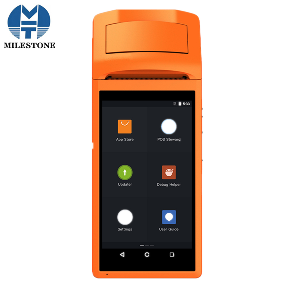 MHT-V1s Touch Screen Bletooth WIFI GPRS POS Machine Factory Direct Selling USB SIM Android POS Terminal with Printer