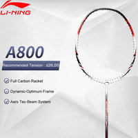 Li Ning A800 Badminton Racket Full Carbon Ball Control No String Basic Model LiNing Durable Single Sport Racquets AYPG356 ZYF163