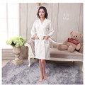 1pcs/lot  Towel Bath Robe Dressing Gown Unisex Men Women Solid Cotton Waffle Sleep Bathrobe Peignoir Nightgowns Lovers Robes