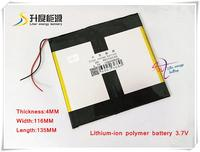 3 7V 10000mAH 40116135 Polymer Lithium Ion Li Ion Battery For POWER BANK Tablet Pc MP4