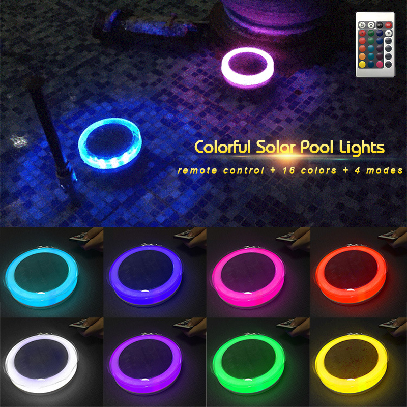 Led Underwater Lights Eslas Solar Underwater Floating Light Pond Led Ip65 Waterproof Swimming Pool Lights Multi Color Garden Lights For Party Lawn High Quality