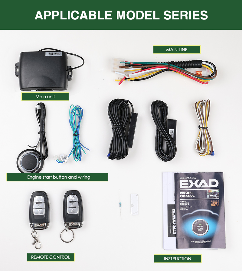 For Skoda PKE SmartPhone APP Remote Keyless Entry Remote Central Locking PKE Start Stop Button IOS/Android Car Alarm System Auto