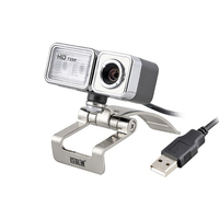 High Quality USB Webcam With Clip ,HD 720P 60fps Computer Camera With Night Light and Microphone 3 in 1 Web cam For Laptop PC