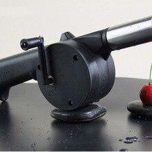 1 шт. напольный вентилятор для приготовления барбекю, воздуходувка для барбекю, огнеупорный сильфон, ручной инструмент для пикника, кемпинга, ок 0392