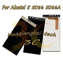 5,7 Neue Für Alcatel 5 5086 5086A 5086D 5086Y LCD DIsplay + Touch Screen Digitizer Montage Mit Rahmen 100% getestet