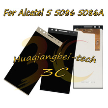 5.7 New For Alcatel 5 5086 5086A 5086D 5086Y LCD DIsplay + Touch Screen Digitizer Assembly With Frame 100% Tested
