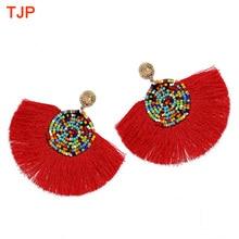 2019 New Handmade Ethnic Bohemian Tassel Earrings for Women Sector Rope Fringes Colorful Beads Dangle Party ZA
