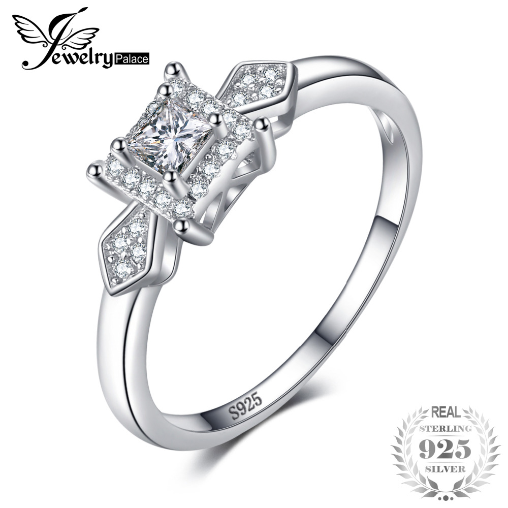 JewelryPalace Exquisite Princess Cut Cubic Zirconia Wedding Anniversary Woman Fashion Ring 925 Sterling Silver Birthday PresentJewelryPalace Exquisite Princess Cut Cubic Zirconia Wedding Anniversary Woman Fashion Ring 925 Sterling Silver Birthday Present