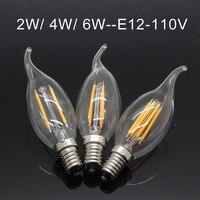 LightInBox 10pcs Lot 110V 60Hz 2W 4W 6W Light Candle Chandelier Lighting E12 LED Lamp Dimmable