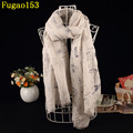 Fashion Character Bicycle Cotton Long Big Shawl Women Stamp Print Fringe Scarves Tower Letter Chevron Tassel Scarf Bird Wrap