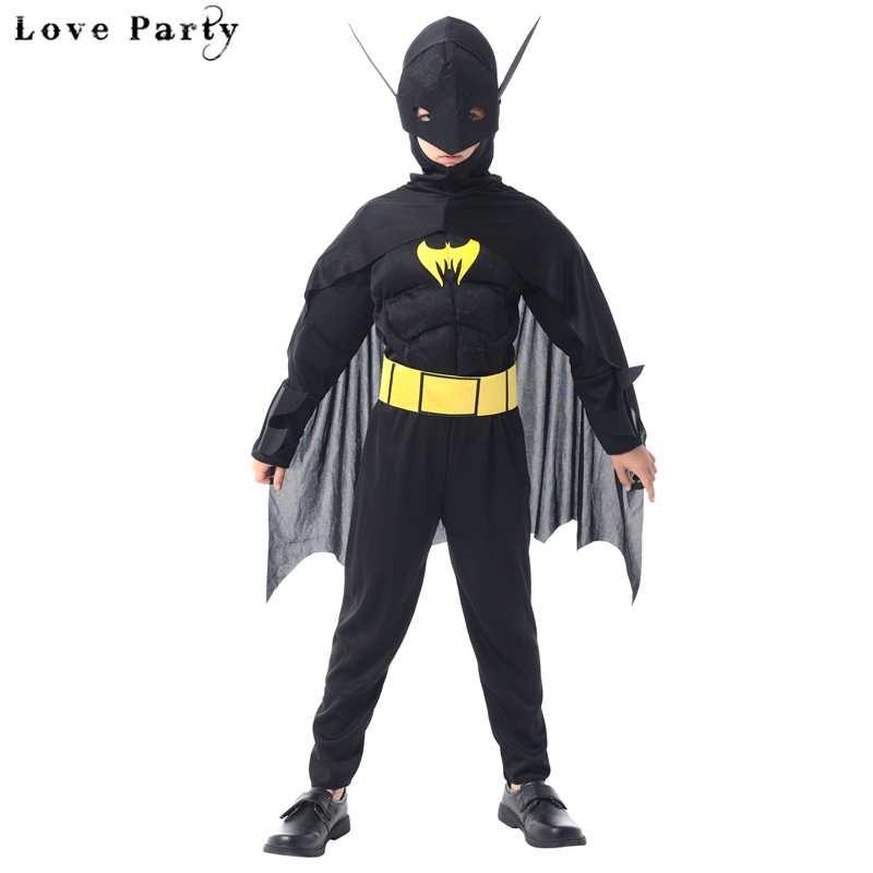 Neue Ankunft Kinder Muscle Dark Knight Cartoon Batman Kind Halloween - Kostüme
