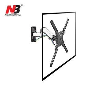 """Image 3 - NB F450 air press molla A Gas a doppio braccio 40 50 """"8 16 kg full motion parete di Monitor staffa LCD tv AL PLASMA montare lcd di sostegno del supporto"""