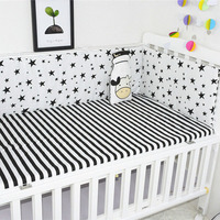 Baby Bumper Newborns Baby Bed Cushion Dot Cross Pattern Printed Infant Crib Bumper Baby Bed Protector Bedding Sets Accessories