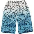 Новый 2017 мужская пляж шорты тенденции моды в печати градиент Большой ярдов свободные шорты