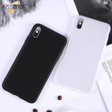 KISSCASE Matte Soft TPU Case For iPhone XR X XS MAX Coque Ultra Thin Slicone Cover Cases For iPhone 7 8 6 5S Plus SE Shell Funda цена и фото