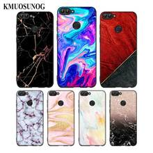 For Huawei P8 P9 P10 P20 P30 Pro Lite P Smart Plus Y6 Y9 2017 Black Soft Silicone Phone Case Gold Pink marble Style