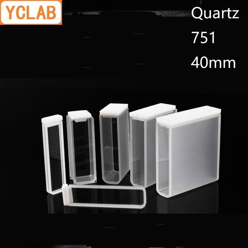 YCLAB 40mm Cuvette 751 Quartz Cell Colorimeter 14mL Laboratory Chemistry EquipmentYCLAB 40mm Cuvette 751 Quartz Cell Colorimeter 14mL Laboratory Chemistry Equipment