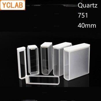 YCLAB 40mm küvet 751 kuvars cep kolorimetre 14mL laboratuvar kimya ekipmanları