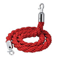Quality 1 5m Long Twisted Queue Barrier Rope Red For Posts Stands