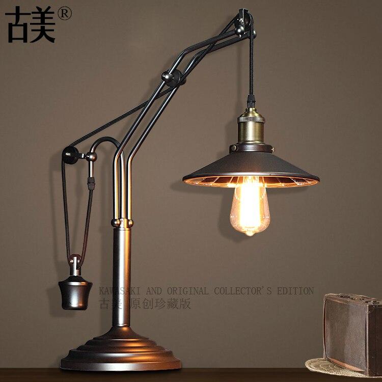 Amerikanischen Stil Minute Oberfläche Tischlampe Vintage Spiegel Abdeckung Schlafzimmer Loft Tischlampe Studie Lichter Freies Verschiffen