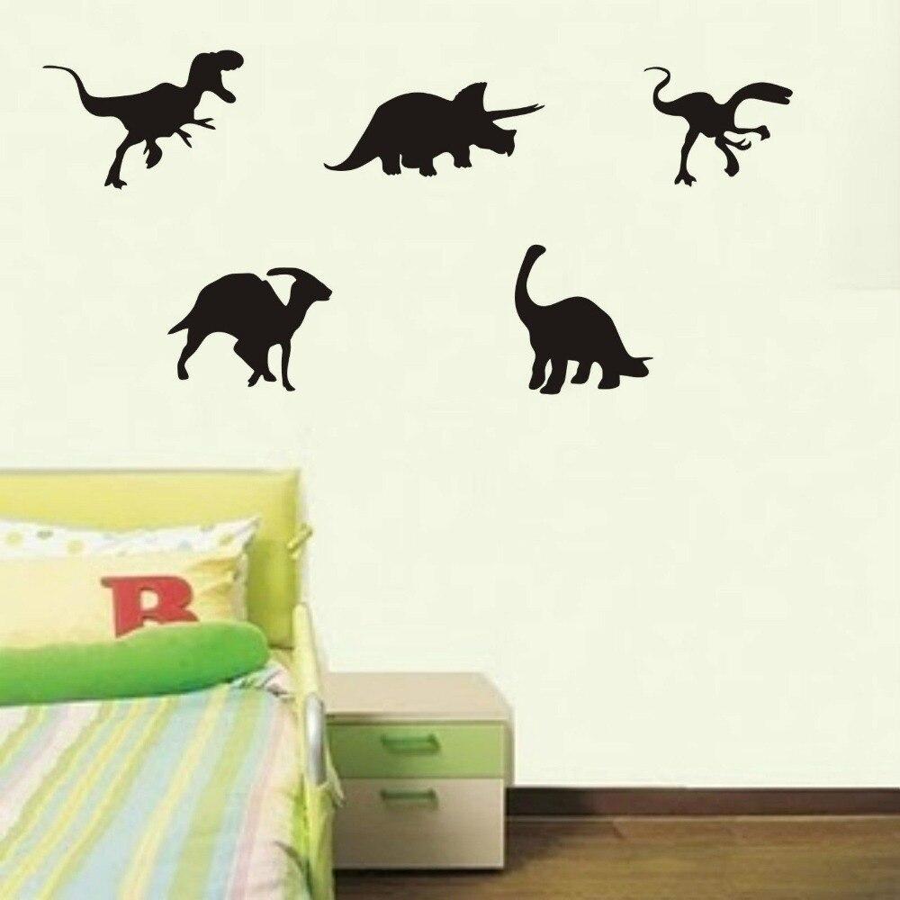 US $9.59 |Dinosauro wall stickers x5 camera da letto parete decalcomanie  Home Decor Stickers Murali per bambini 3 FORMATI 40 COLORI in Dinosauro  wall ...