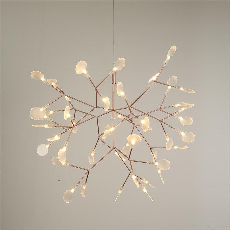 Led firefly pendant light modern leaf - Tree branch light fixture ...