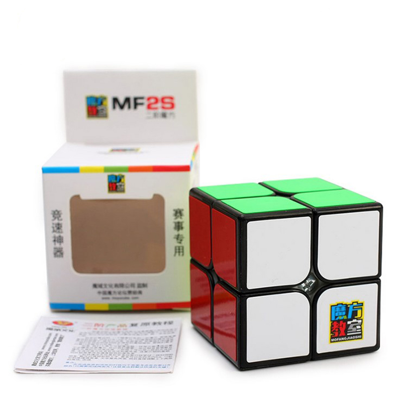 Moyu MF2S 2x2 Competition Speed Magic Cube Puzzle Gifts Educational Toy for Children MF8806 - Black
