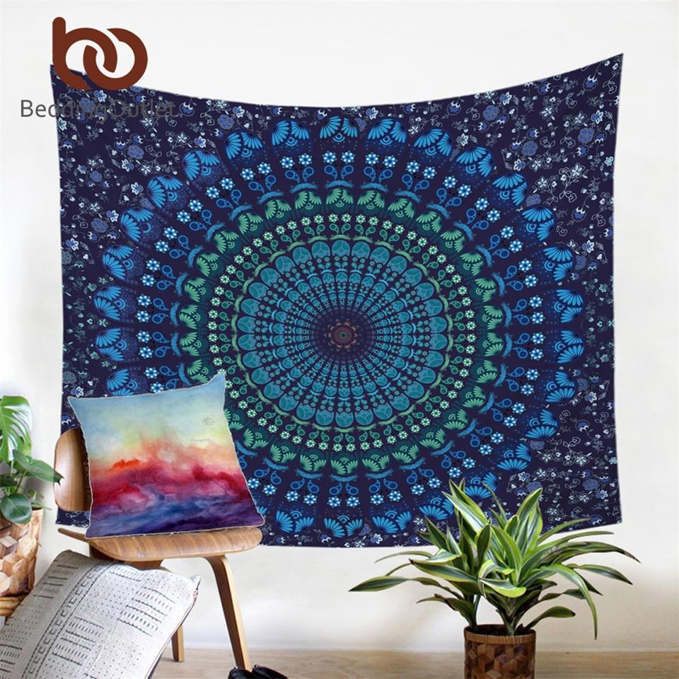 BeddingOutlet Vanitas Mandala Gobelin Marokkanischer Inder gedruckt dekorative Wandteppiche 130cmx150cm 150cmx200cm Drop Shipping