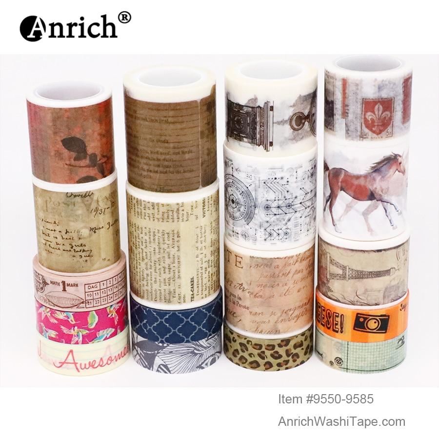 Free Shipping And Coupon Washi Tape,Washi Tape,basic Design,Optional Collocation,on Sale,#9550-9585
