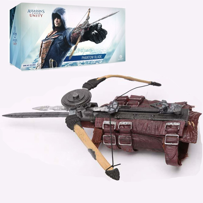 Unity Hidden Assassins Creed Blade Cosplay Edward Kenway Costume Action Figure Assassins Creed Hidden Blade Pvc Model Collection 27cm pvc assassins creed figure edward kenway play arts kai figma figurine assassins creed toy assassinscreed hidden blade