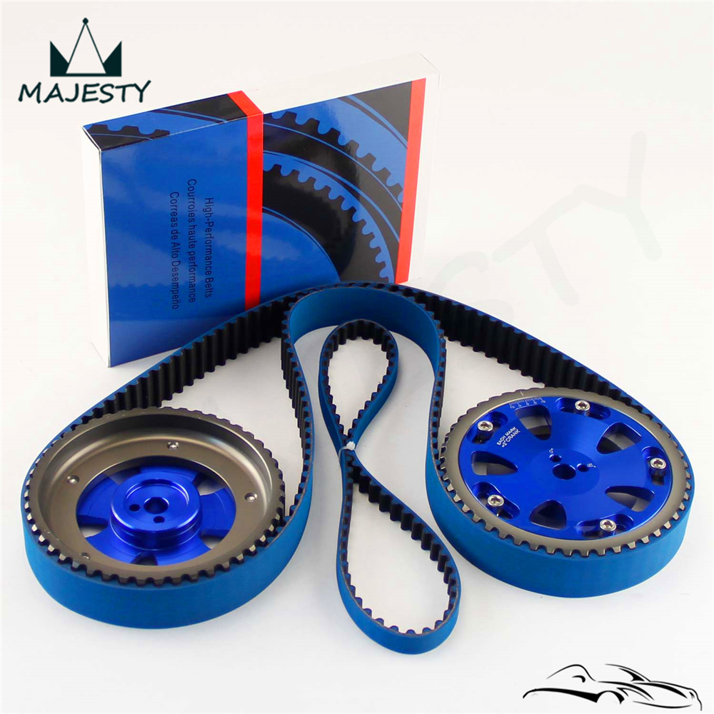 Racing Timing Belt Balance Cam Gear For EVO 1 9 Eclipse DSM 4G63 92 06