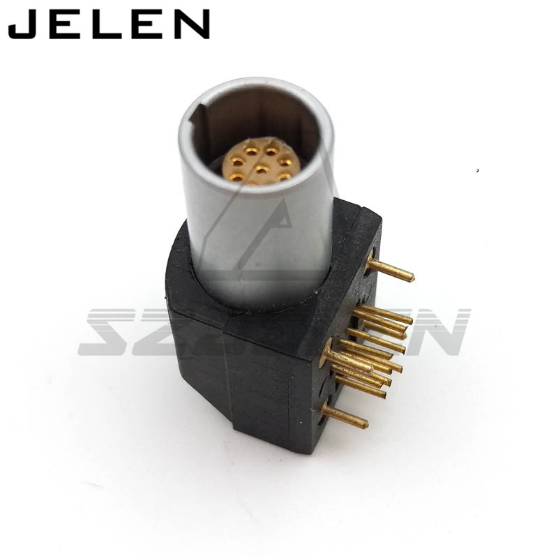 SZJELEN connector 9pin socket for PBC, EPG.0B.309.HLN, Printed circuit board 90 degree bend socket 9 pin szjelen connector egg 0b 309 cll fgg 0b 309 clad z 9pin connector cable connector male and female connector