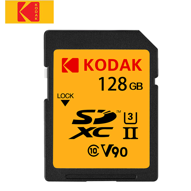 KODAK V90 haute vitesse carte mémoire 128 GB 64 GB UHS-II carte SD SDXC carte mémoire 280 mo/s pour reflex numérique/caméra HD Tarjeta sd