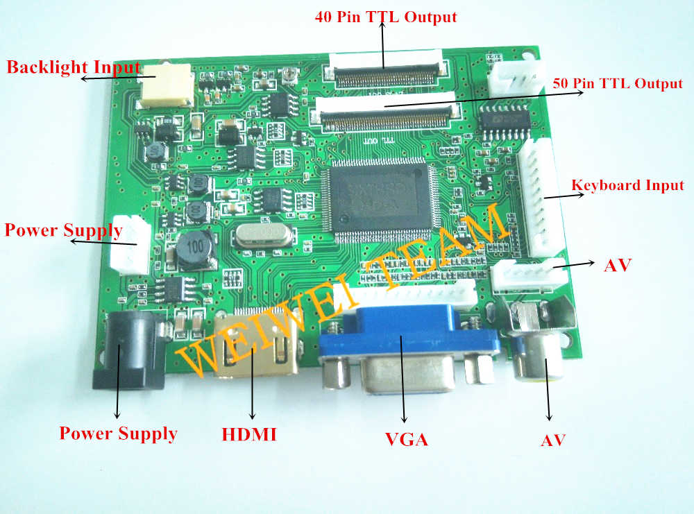 10.1 IPS cho Raspberry Pi Màn Hình 1280*800 TFT EJ101IA-01G LCD Hiển Thị Từ Xa Bảng Điều Khiển Cảm Ứng bảng điều chỉnh HDMI 2AV VGA Raspberry