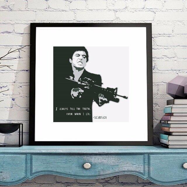 Scarface Portret Movie Canvaskunst Schilderij Poster Muur Foto ...