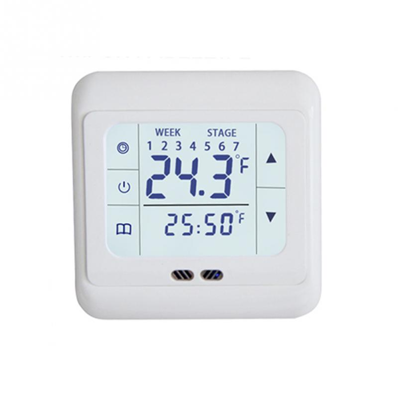 Hot Sell Home Thermoregulator Touch Screen Heating Thermostat Warm Floor Electric Heating System Temperature Controller #20Hot Sell Home Thermoregulator Touch Screen Heating Thermostat Warm Floor Electric Heating System Temperature Controller #20
