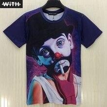 Nueva Caliente de La Manera Hombres y Mujeres 3D Camiseta Funny Boy Sexy Rihanna Monroe Impresión Digital Camiseta 3d Hombre de Hip Hop Camiseta